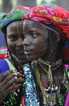 Peul girls of Cameroon