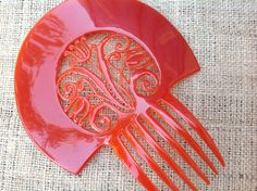 Auguste Bonaz Signed Hair Comb Jewelry Art Deco by TwoVintageHens