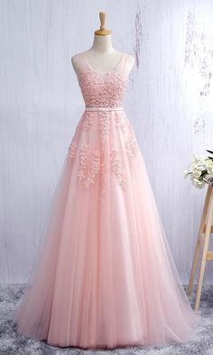 Pink Prom Dress, Prom Dresses, Graduation Party Dresses, Formal Dress For Teens