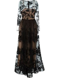 ZUHAIR MURAD Sheer Embroidered Gown. #zuhairmurad #cloth #gown