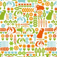 Guinea Pigs at the allotment fabric by ebygomm on Spoonflower - custom fabric