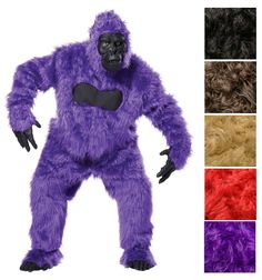 """""""MONTHLY STEAL DEAL""""  Make fun on your desired costume with this Fun Gorilla Solid Long Pile Faux Fur 58 Inch!! On sale from $20.00 down to $15.00.  A very high pile value, shaggy fur faux is great for crafts and  costumes.  Visit: http://thefabricexchange.com/monthly-steal-deal/  Costume Image Inspiration: https://www.halloweencostumes.com/purple-gorilla-suit.html  #thefabricexchange #fabric #sale #fauxfur #highpile #shaggy #fur  #fauxfur #fashion #DIY #cosplay #create #craft #sew #noSew…"""