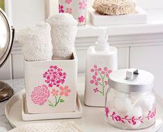Martha Stewart Blossom Bathroom Accessories #PlaidCrafts