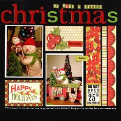 by LAuclair Christmas scrapbook layout