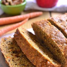 Check out this delicious Carrot Apple Bread recipe! It is perfect for fall and jam packed with both flavor AND healthy ingredients!