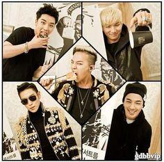 BIGBANG <3 Seungri, Daesung, T.O.P, Taeyang, and G-Dragon in the middle. :3