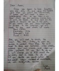 Mom defends tough-love letter to son after getting shamed online Letter To Son, Love Letter To Her, Love Letters, Letter To Future Self, Open Letter, Parenting Done Right, Parenting Advice, Kids And Parenting, Parenting Win
