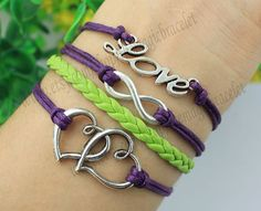 Love bracelet infinity and heart to heart by themagicbracelet, $4.99