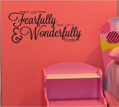 I Am Fearfully And Wonderfully Made Psalm 139:14 wall saying vinyl lettering art decal quote sticker home decor Wall Saying Vinyl Lettering,http://www.amazon.com/dp/B009SB36UI/ref=cm_sw_r_pi_dp_Yvcqtb08D4BNJPR7
