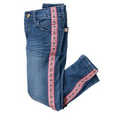 Best 12 Stretch Slim-Fit Denim Jeans with Side Stripe – SkillOfKing. Sewing Shorts, Dress Sewing, Jeans Refashion, Denim Outfit, Shirt Outfit, Denim Ideas, Striped Jeans, Altered Couture, Clothing Hacks