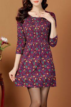 Jacquard Vintage A Line Jumper Dress