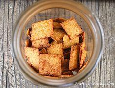 Whole Wheat Sriracha Cheese Crackers
