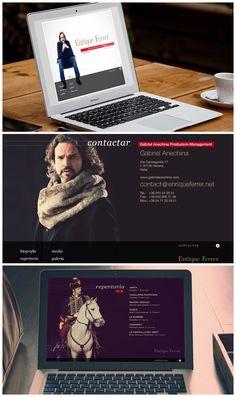 Web realizada en 2011 por Madtypper, con tecnología #flash, para el tenor Enrique Ferrer #webdesign #opera #music #diseñoweb