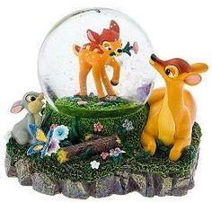 Disney Bambi's first Spring Snowglobe
