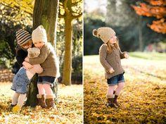 candid shots kids fall autumn family photo session