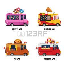 Buy Street Food Van By Top Vectors On GraphicRiver Editable EPS And Render In JPG Format