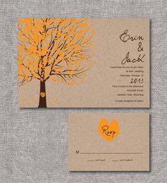Printable Wedding Invitation - Courtship Tree. $35.00, via Etsy.