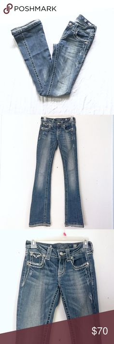 MISS ME Jeans Medium Wash, Bootcut ‼️MEMORIAL WEEKEND SALE‼️These Miss Me boot cut jeans are medium wash and in excellent condition. They are size 27 and show no visible signs of use! Miss Me Jeans Boot Cut