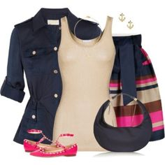 Navy, Pink & Gold