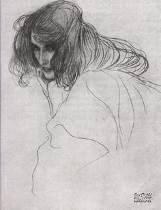 Study of 'Lasciviousness' from 'The Beethoven Frieze' by Gustav Klimt.