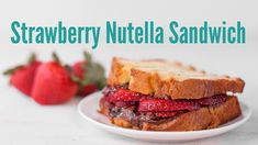 Easy Strawberry Nutella Panini Recipe is a great Valentine's Day breakfast or dessert. From EatingRichly.com