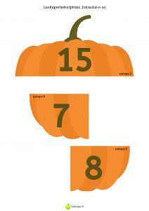 Laskuperhekurpitsat 10 ylitys | tukiope.fi yhteenlasku | vähennyslaku | toiminnallinen matematiikka | alkuopetus | halloween | syksy | kurpitsa Teaching, Halloween, Education, Spooky Halloween, Onderwijs, Learning, Tutorials