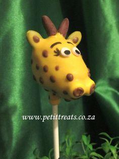 Madagascar (the movie) Character Cake Pops - giraffe