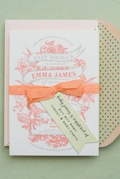 Vintage Spring Baby Shower Invitations by Antiquaria