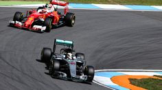 #MOTORSPORTS  #MOTORS     HOCKENHEIM, GERMANY - JULY 29: Lewis Hamilton of Great Britain driving the (44) Mercedes AMG Petronas F1 Team Mercedes F1 WO7 Mercedes PU106C Hybrid turbo leads Kimi Raikkonen of Finland driving the (7) Scuderia Ferrari SF16-H Ferrari 059/5 ...  (Photo by Charles Coates/Getty Images)