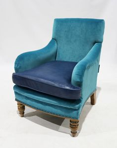 Featured here in a mixture of velvet & leather upholstery. Traditional Chairs, Traditional Furniture, Wingback Chair, Armchair, Gladstone, Accent Chairs, Upholstery, Lounge, Victorian