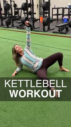Kettlebell Workouts For Women, Full Body Kettlebell Workout, Dumbbell Workout, Gym Workouts, At Home Workouts, Yoga Sculpt, Gymnastics Workout, Workout Posters, Sport