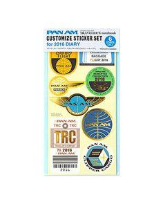 Midori Traveler's Limited Edition 2016 Pan Am Sticker.( SHIPS on 8th April) by niconecozakkaya on Etsy