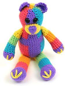 Rainbow Bear ~ free pattern ᛡ