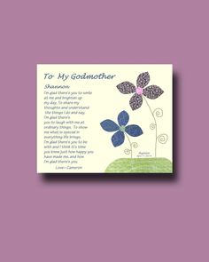 Godmother gift  Personalized gift for Godmother  by BoutiqueBlu, $10.00