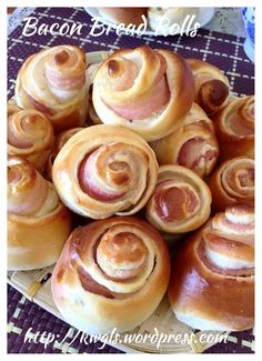 Bacon Bread Rose (培根玫瑰餐包)#guaishushu #kenneth_goh     #bacon_bread  #培根餐包