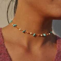 Necklace Types, Diy Necklace, Fashion Necklace, Fashion Jewelry, Fashion Fashion, Necklace Charm, Choker Necklace Diy, Necklace Tutorial, Beaded Choker Necklace