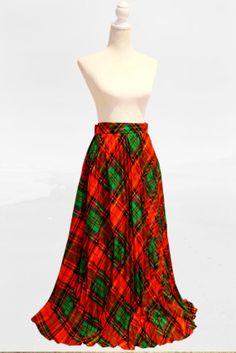 Long Scottish pleated skirt