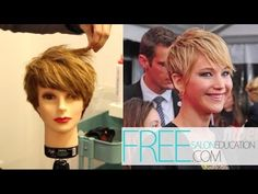 JENNIFER LAWRENCE PIXIE HAIRCUT - HOW TO CUT THE JENNIFER LAWRENCE PIXIE HAIRCUT OF 2013 - YouTube