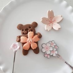 Bear Cookies, Cute Desserts, Cute Food, March, Study, Kawaii, Sweet, Bears, Candy