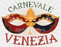 Colorful Colombina Mask for Italian Carnival of Venice Celebration