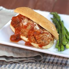 Turkey Meatball Subs | The Sweets Life #cookinglight