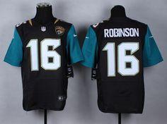 Jacksonville Jaguars #16 Robinson black NFL Elite Jersey