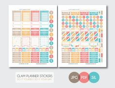 Free Monthly Printable Planner Stickers Set - Today - Erin Condren Glam Planner, To Do Planner, Free Planner, Budget Planner, Planner Pages, Happy Planner, Planner Ideas, Printable Planner Stickers, Printables