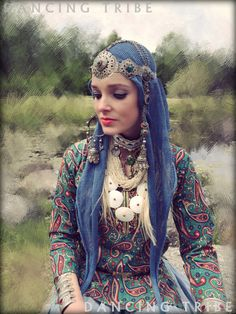 Moroccan Headdress with Tassels Ethnic Headpiece by DancingTribe