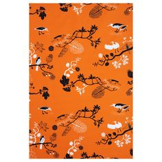 GUNILLA Fabric - IKEA   I love this one too for kitchen curtains....a pop of orange....