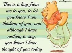 Winnie the Pooh quotes are helpful for every aspect of life. These Winnie the Pooh quotes will help you to discover your own Hundred Acre Wood. Winnie The Pooh Quotes, Winnie The Pooh Friends, Disney Winnie The Pooh, Disney Disney, Hug Quotes, Funny Quotes, Life Quotes, Sweet Quotes, Hello Quotes