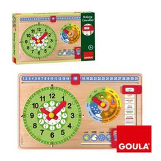 Horloge et calendrier Goula Teaching Clock, Discovery Toys, Math 5, Alphabet Book, Seasons Of The Year, Language Development, Early Education, Spanish Language, Educational Toys