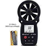 holdpeak 866b Medidas Medidor Digital de–La mejor velocidad del viento anemómetro velocidad del viento Temperatura de + + Wind Chill con retroiluminación para Amazon mejor vendedor en velocidad del viento calibradores. de windsurf Kite Flying Vela Surfing, Pesca, etc.