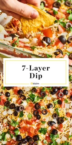 Best-Ever Homemade 7 Layer Dip. Need ideas for sides and side dishes you can ser… Best-Ever Homemade 7 Layer Dip. Appetizer Dips, Appetizers For Party, Appetizer Recipes, Salad Recipes, Party Dips, Party Snacks, Boat Snacks, Healthy Appetizers, Snack Recipes