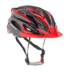 BMX Helmets - Leadtry HM3 Bike Helmet Ultralight Integrally Molded EPS Bicycle Helmet Safety Helmet Specialized for Road Mountain Terrain Bicycle with Comfortable Removable Washable Antibacterial Pads BlackRed >>> Check out this great product.